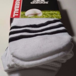 adidas Accessories - ADIDAS Climalite Baseball 2 Pair White Socks